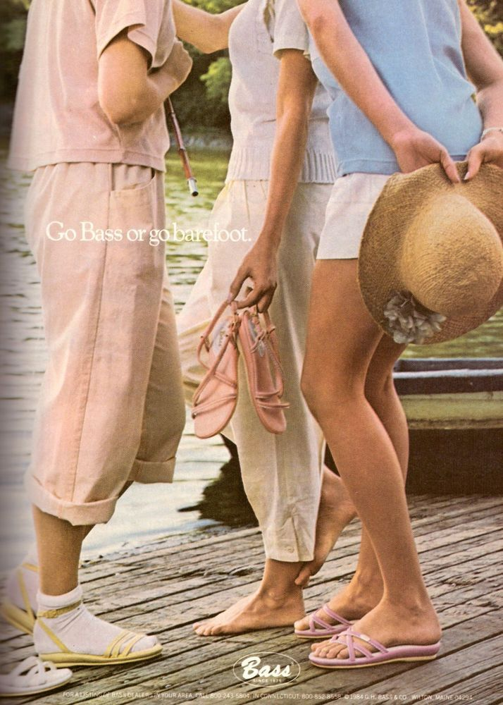 1984 Bass Shoes Footwear Legs Feet Retro Print Advertisement Vintage Ad VTG 80s #Bass