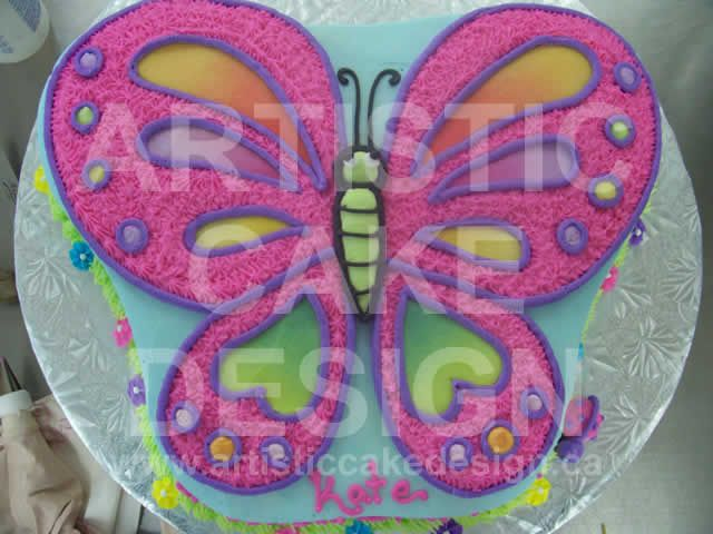 Butterfly Cake Pan Decorating Ideas : 17 Best images about Butterfly shaped cake on Pinterest ...