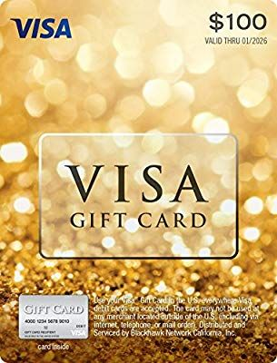 Amazon 100 Visa Gift Card Plus 595 Purchase Fee Cards