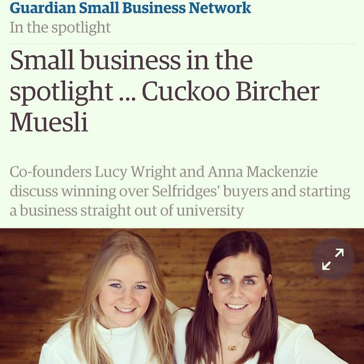 Happy Saturday! We're spending ours in The Guardian small Business Network talking all things start up!  http://www.theguardian.com/small-business-network/2015/jul/11/small-business-spotlight-cuckoo-bircher-muesli
