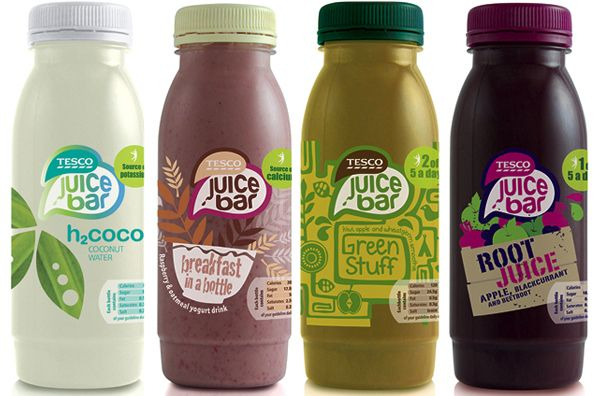 Really tastefull design! - Tesco Juice Bar front