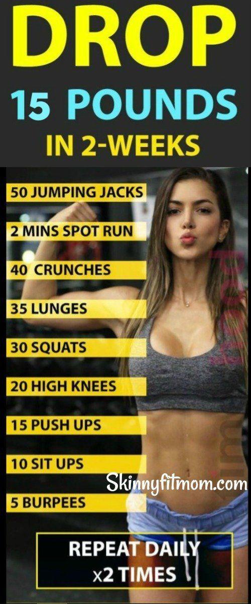 8 beste Übungen, um mehr als 15 Pfund in 2 Wochen zu verlieren