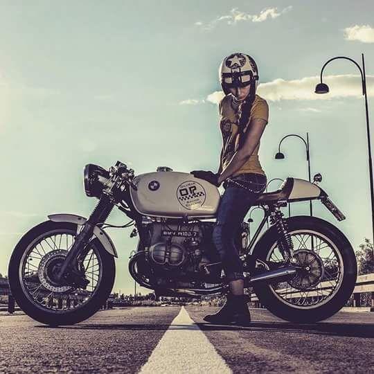 Old School Garage  Euro Bikes  Pinterest  Cafe Racer Style, Bmw -4714