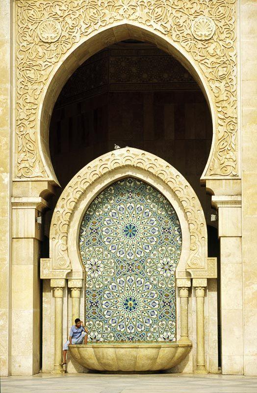 Hassan Mosque, fountain - Morocco