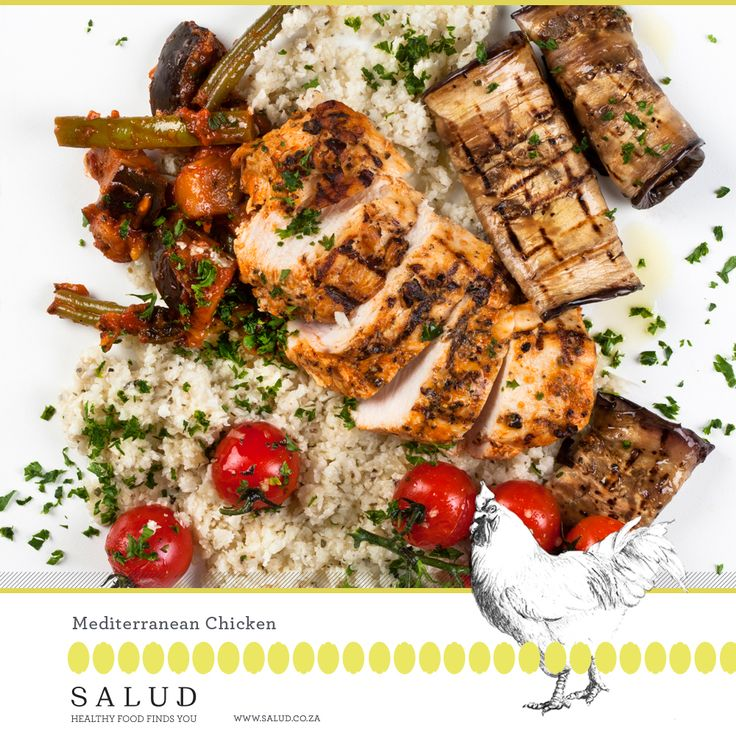 Mediterranean Chicken   Healthy prepared take home meals delivered to you.   www.salud.co.za