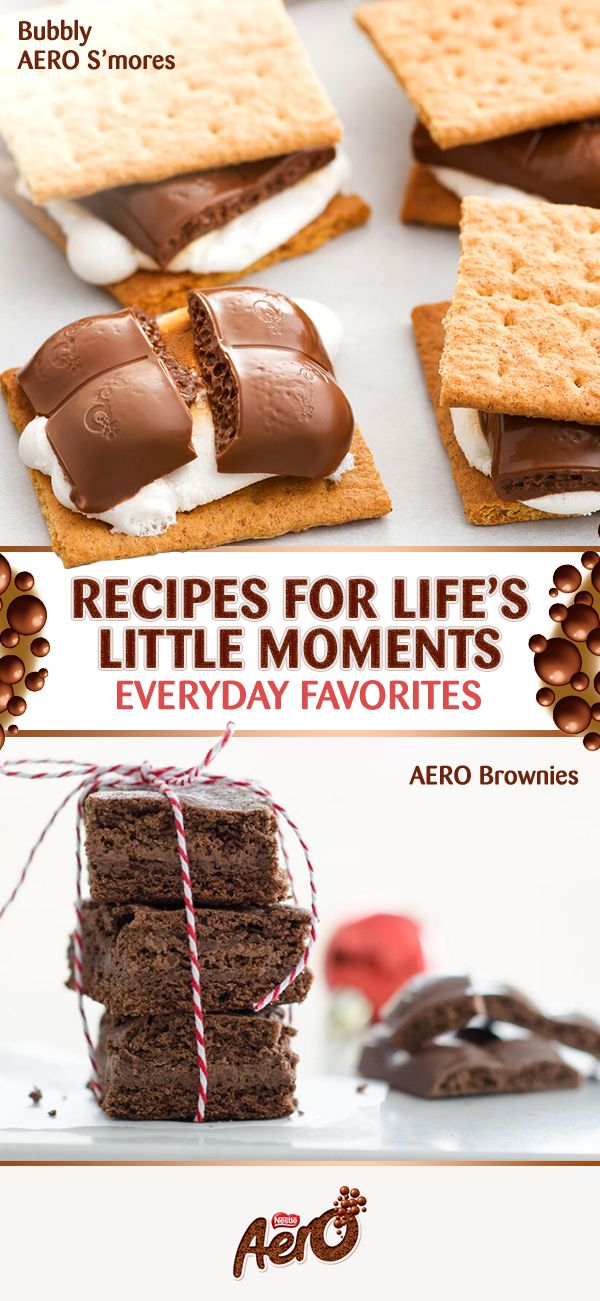 What better way to end the day than with these irresistible desserts? Made with delicious AERO milk chocolate, they can both be ready in less than an hour and you'll have enough to satisfy the entire family. Click to discover the full recipes.