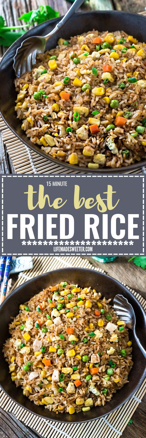 Absolutely the BEST Chinese Fried Rice - the perfect easy weeknight dish. With the most authentic flavors! My father was the head chef at a top Hong Kong Chinese restaurant and this was his specialty! So delicious and way better than any takeout!