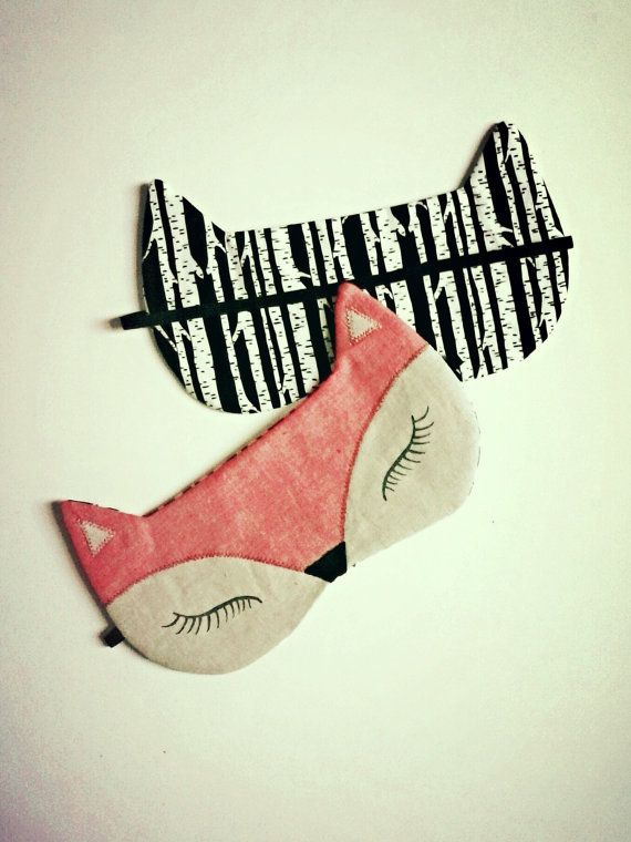 Fox Sleeping Mask Cat Sleeping Mask Natural by StitchLabMinnesota