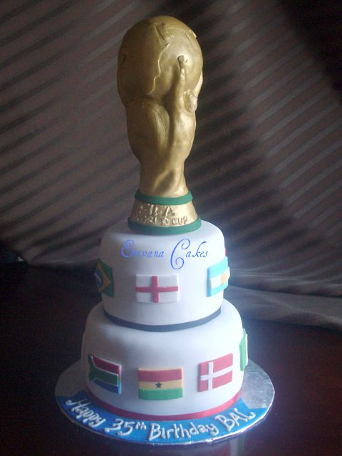 Trophy Birthday Cake