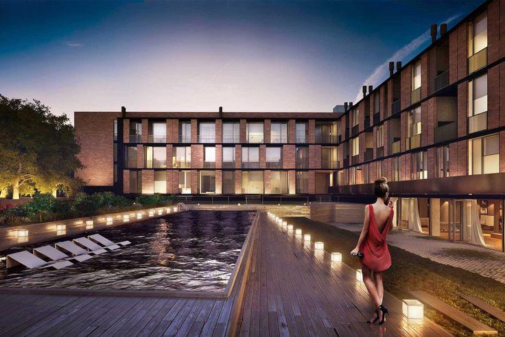 Club Bamboo es un emprendimiento que se emplaza en un predio de 8.000 m² con espacios verdes, amplios jardines, áreas de esparcimiento y un privilegiado sector comercial. Autores: Arq. Sebastián Cseh  - Arq. Juan Cruz Catania - Dactivo