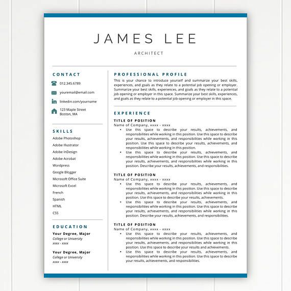 24 best Resume Templates images on Pinterest Cover letter - instant resume builder