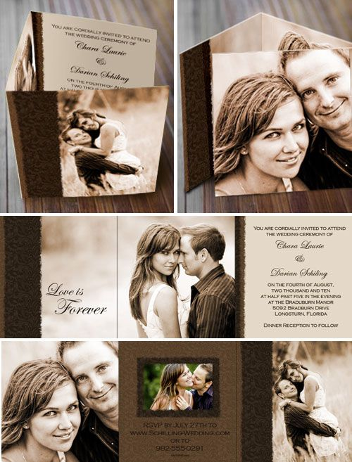 I love the Tri-Fold wedding invites! too cute
