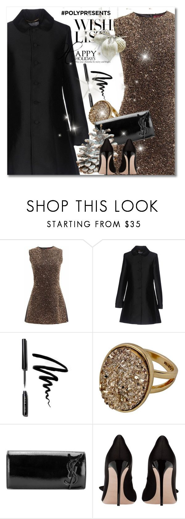 """""""#PolyPresents: Wish List"""" by andrejae ❤ liked on Polyvore featuring Blugirl, Bobbi Brown Cosmetics, Yves Saint Laurent, contestentry and polyPresents"""