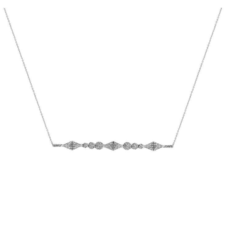 Sama Horizontal Pendant Necklace - Silver