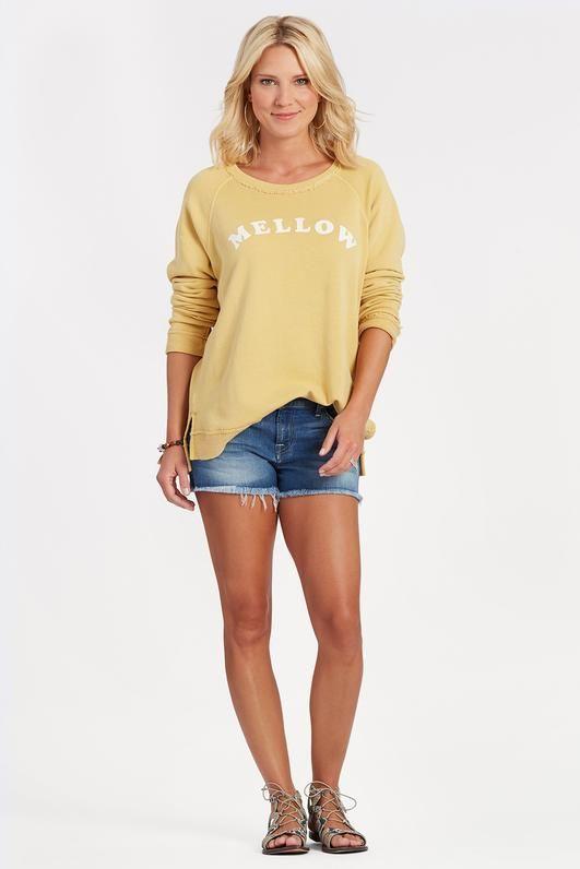Mellow Yellow sweatshirt Pullover by BILLABONG