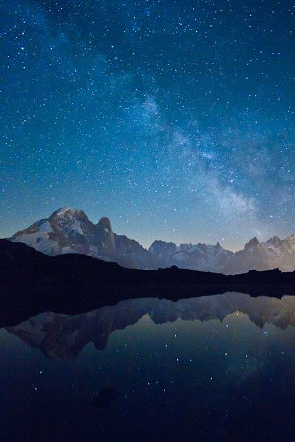 Mountains and Milky Way