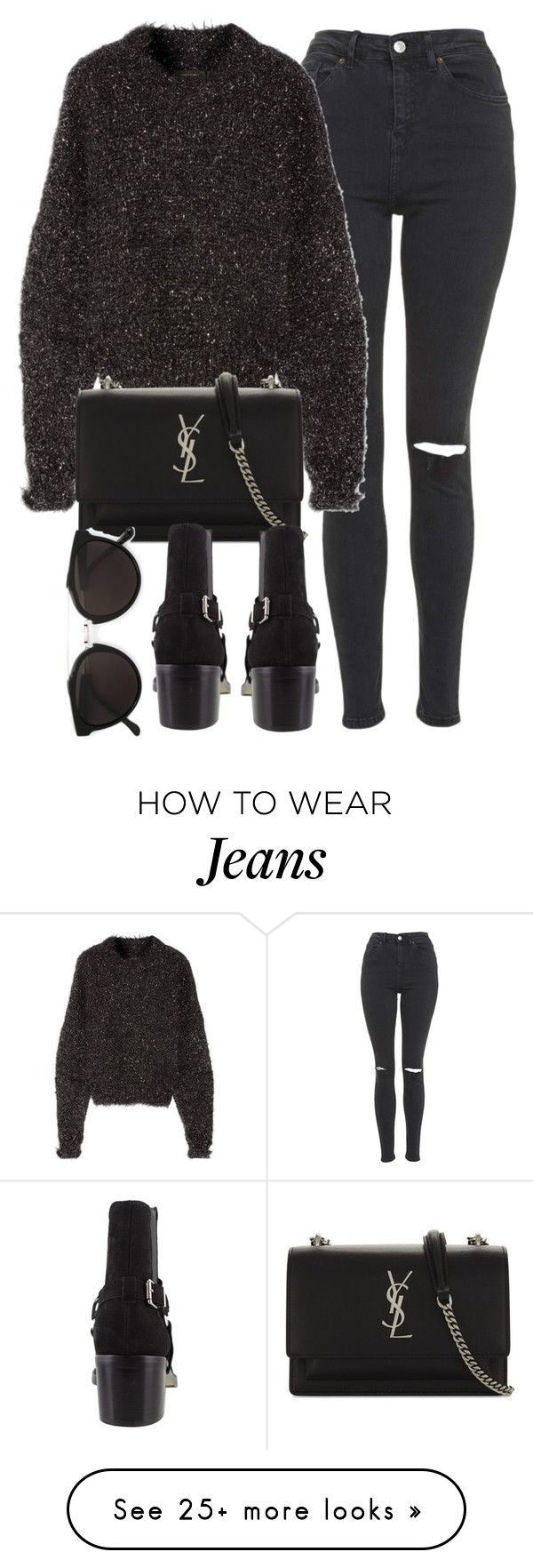 """Untitled #7117"" by laurenmboot on Polyvore featuring Topshop, Isabel Marant, Yves Saint Laurent and RetroSuperFuture"