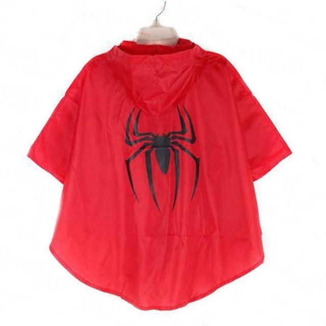 Kids Rain Coat raincoat for children Rainwear impermeable Rainsuit Kids Waterproof Supermen rain gear rain poncho capa de chuva