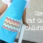 fat quarter kids apron tutorial