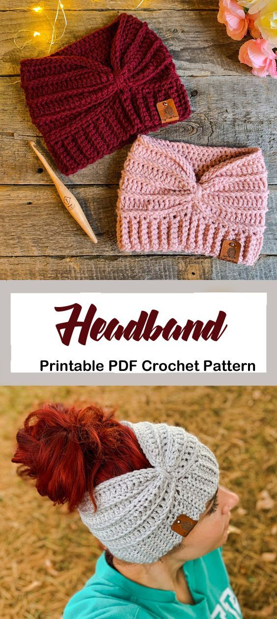 Make a cozy ear warmer. headband crochet pattern- …