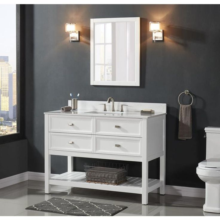Scott Living Canterbury White Undermount Sing Bathroom