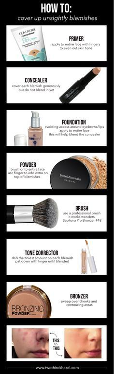 How to cover up pimples and blemishes. Tricks to covering up and concealing acne using makeup. Two Thirds Hazel.