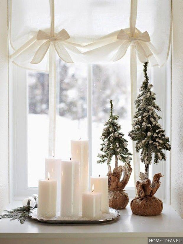 Украшение квартиры на Новый Год своими руками: елка, окна и подоконники, стол