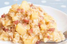 Il Risotto patate e pancetta è un primo delizioso e semplicissimo da preparare. Sono sicurissima che piacerà a tutta la famiglia, provatelo e fatemi sapere!