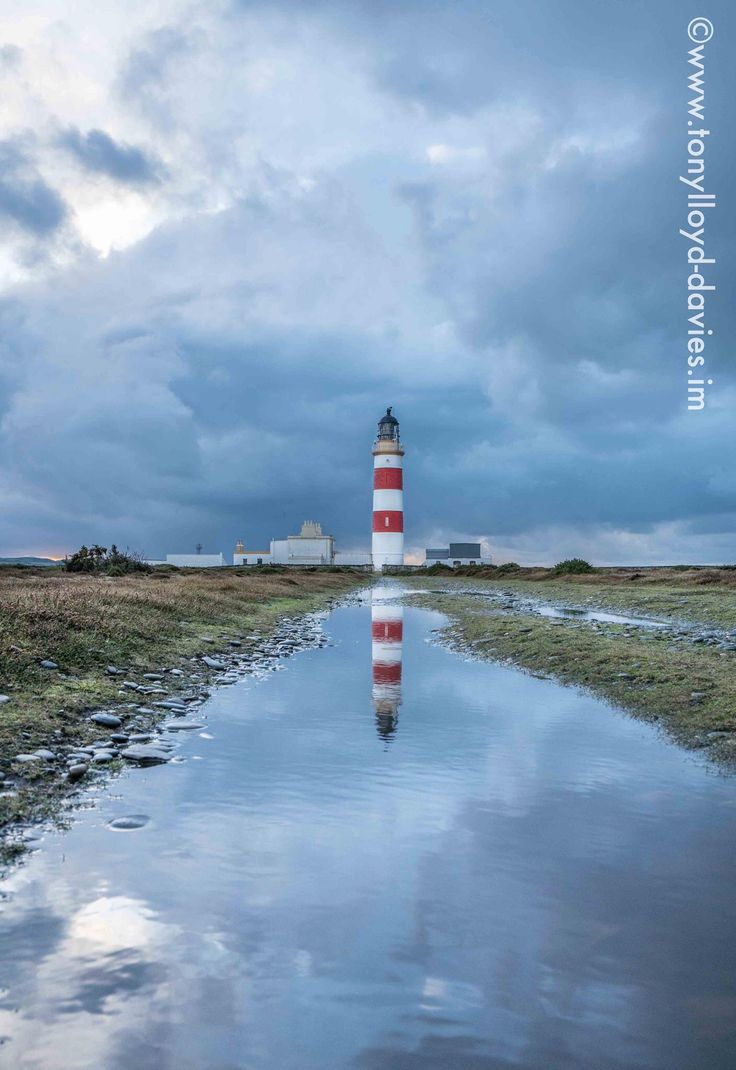 Point of Ayre Lighthouse by Tony Lloyd-Davies.