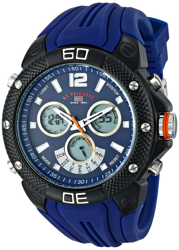 U.S. Polo Assn. Sport Men's US9496 Analog-Digital Display Analog Quartz Blue Watch