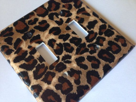Leopard Light Switch Plate / Double  Light by COUTURELIGHTPLATES Animal print decor, leopard nursery decor, leopard room ideas, classic leopard decorating , Hollywood regency decor , teen room decor #teenroomdecor