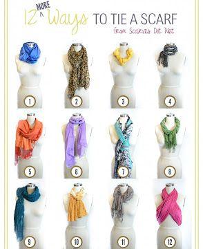 DIY- 12 More Ways to Tie A Scarf !!