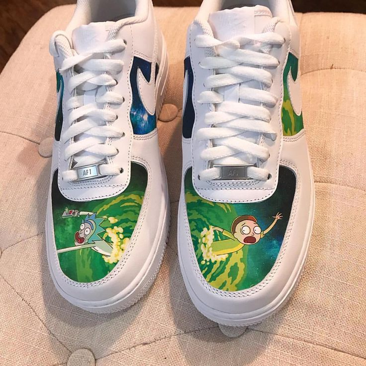 Behind The Scenes By tommytrillions Custom Painted Shoes, Custom Shoes, Rick And Morty Shoes, Painted Sneakers, Nike Shoes Air Force, Jordan Shoes Girls, Aesthetic Shoes, Hype Shoes, Fresh Shoes