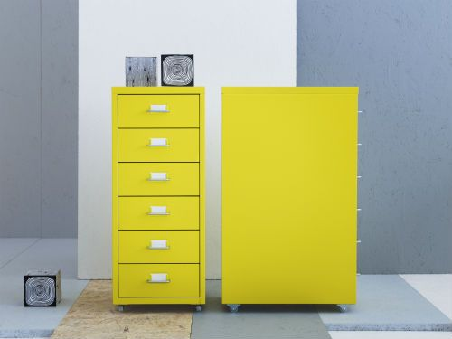 helmer drawer unit on casters red ikea drawer unit and yellow. Black Bedroom Furniture Sets. Home Design Ideas