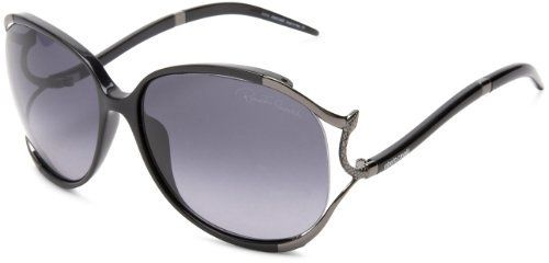 Roberto Cavalli Womens RC530SSW01B Rectangular Sunglasses,Black Frame/Smoke Lens,One Size Roberto Cavalli. $270.94