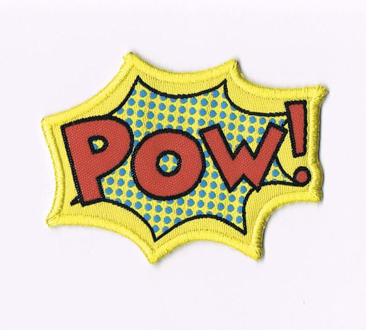 Pow iron on patch, Comic noise woven patch, classic, superhero, kids, iron on applique,iron on appliqué by wovenlabelhk on Etsy https://www.etsy.com/listing/236589338/pow-iron-on-patch-comic-noise-woven