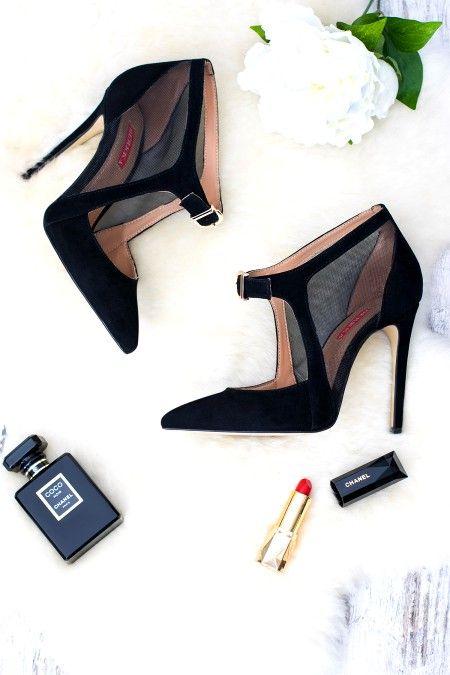 WOW! Pantofi Luxury MADONNA cu Plasă din Velur Natural