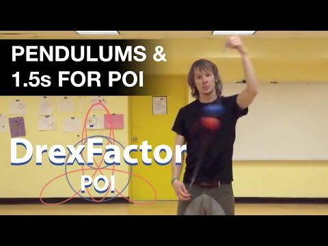 Basic Poi Dancing Tutorial: Pendulums and 1.5s - YouTube