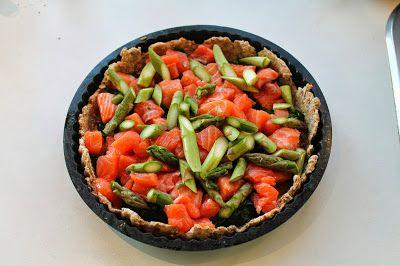 Laksetærte med spinat og asparges | Anna-Mad blog