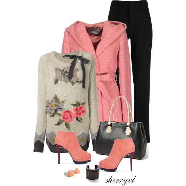 """""""Floral Sweater And Boots Contest"""" by sherryvl on Polyvore"""