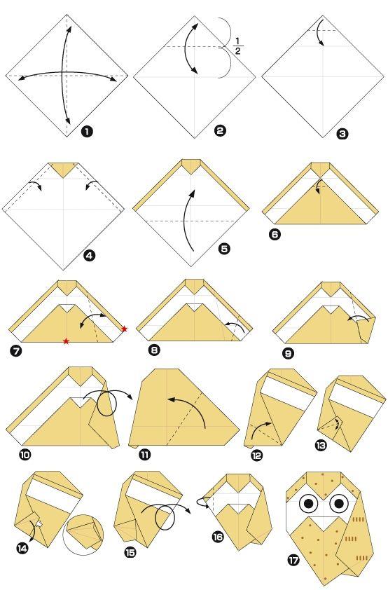 Origami av uggla