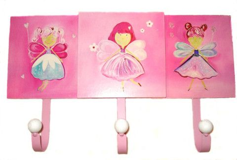 These Fairy Hooks add a lovely touch to a kids bedroom! Perfect to hang school/kinder bag, library bag, swimming bag or even coats, jackets or umbrellas!