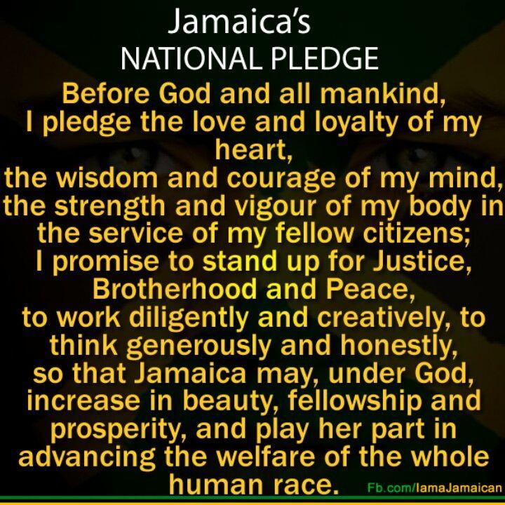 Jamaica's national pledge