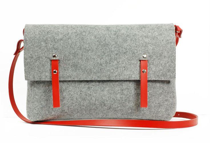 Hecho a mano bolsa de fieltro de popeq design por DaWanda.com