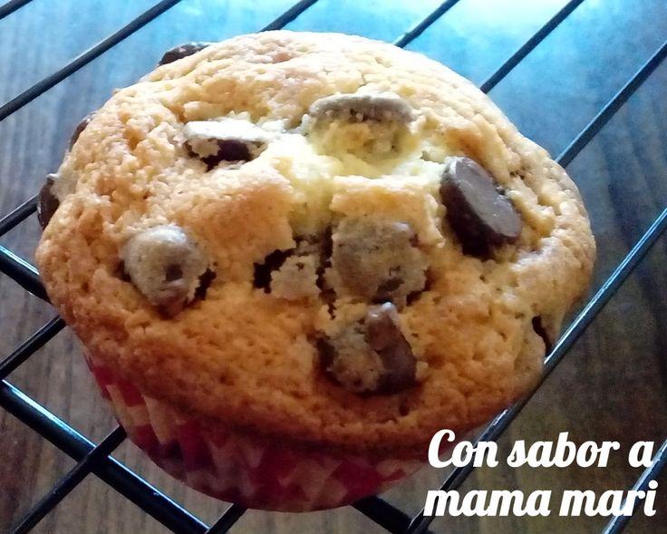 Con sabor a mama mari: Magdalenas con pepitas de chocolate