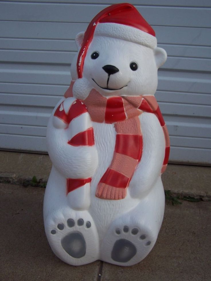42 christmas blow mold yard decor 28 teddy polar bear. Black Bedroom Furniture Sets. Home Design Ideas