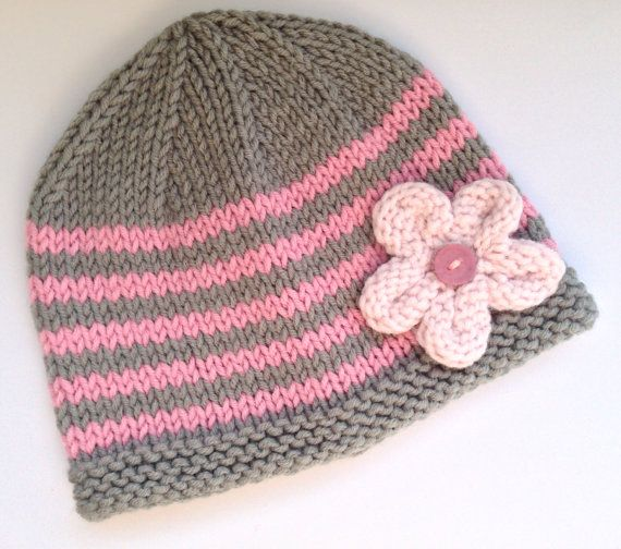Hey, I found this really awesome Etsy listing at https://www.etsy.com/listing/180490730/baby-hat-handknitted-grey-gray-with-pink