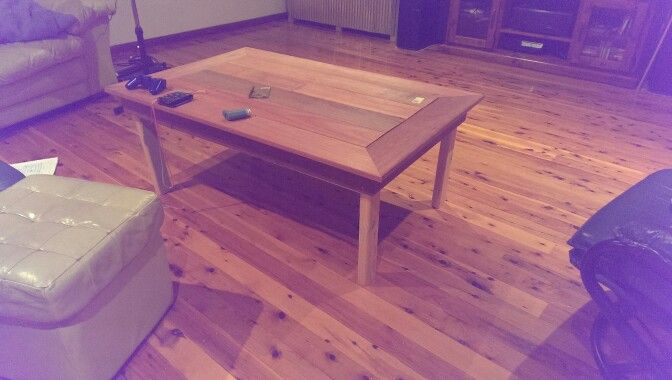 Decking wood used to make coffee table
