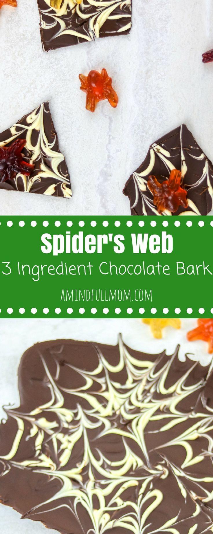 3 ingredient easy chocolate bark - Halloween Casserole Recipe Ideas
