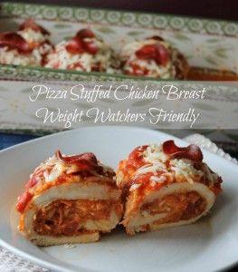 Pizza Stuffed Chicken Breasts Weight Watchers Friendly Recipe  5 points plus